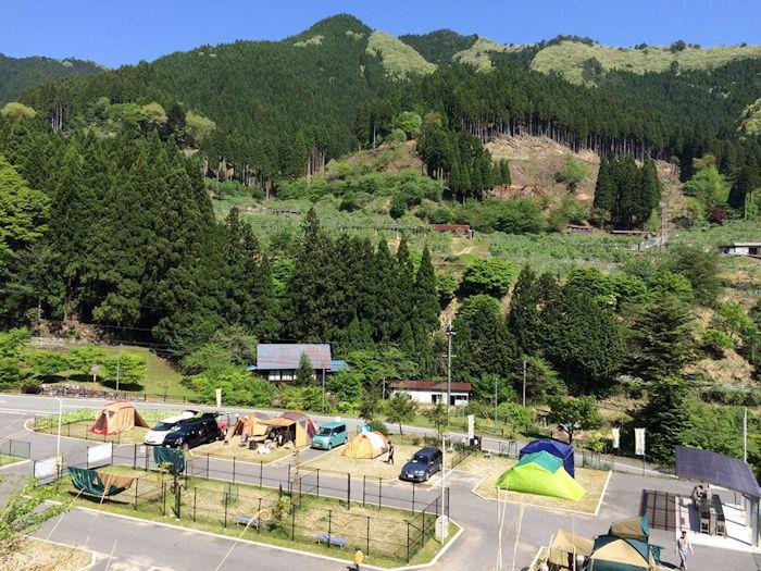 波賀不動滝公園 楓香荘オートキャンプ場